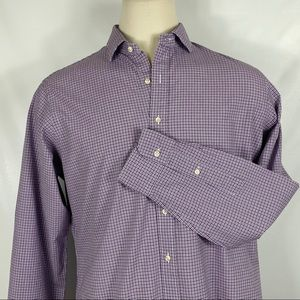 Polo Ralph Lauren Purple & Black Button Down Shirt